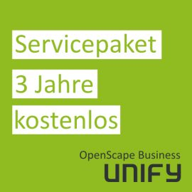 Unify | OpenScape Business Servicepaket für 3 Jahre kostenlos